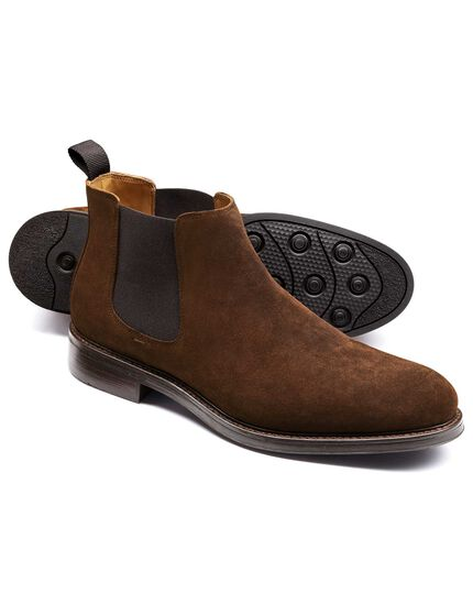 Brown Stratton suede Chelsea boots