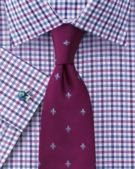 Slim fit Jermyn Street check pink and blue shirt