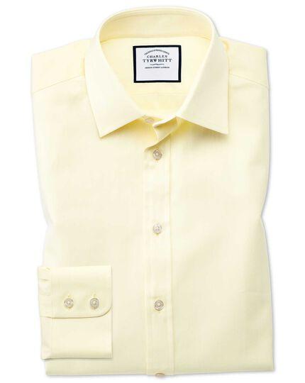 Chemise jaune coupe droite à chevrons fins