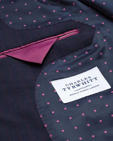 Blue stripe slim fit Panama business suit jacket