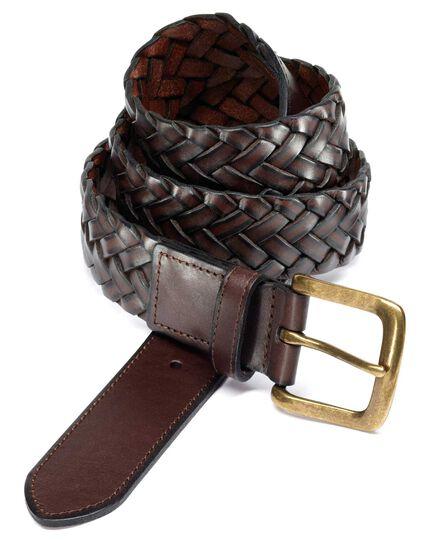 Brown plait belt