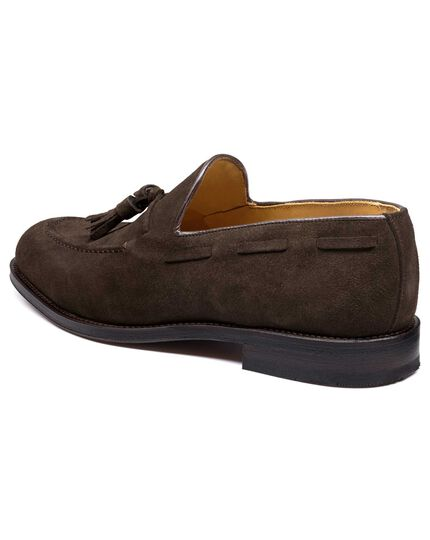 Brown suede Keybridge tassel loafers