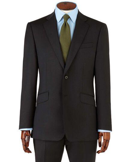 Veste de costume noire en tissu italien slim fit