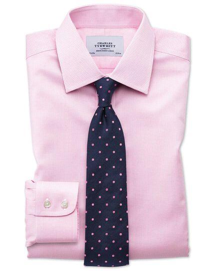 Classic fit non-iron puppytooth light pink shirt