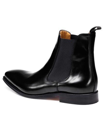 Black Montagu Chelsea boots