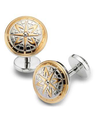 Manschettenknöpfe mit Kompass