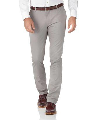 Grey extra slim fit stretch Chinos