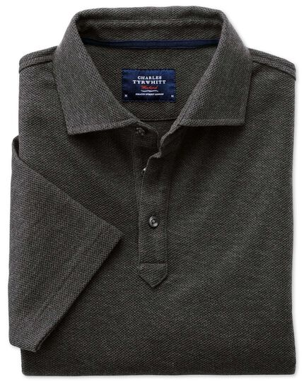 Charcoal honeycomb polo