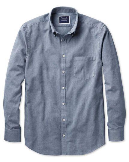 Slim Fit Oxfordhemd in Indigoblau