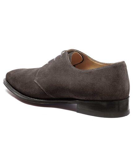 Grey Soho suede Derby shoe