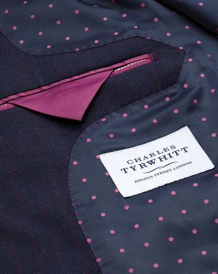 Blue stripe classic fit Panama business suit jacket