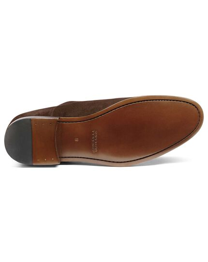 Chocolate suede Oxford shoe
