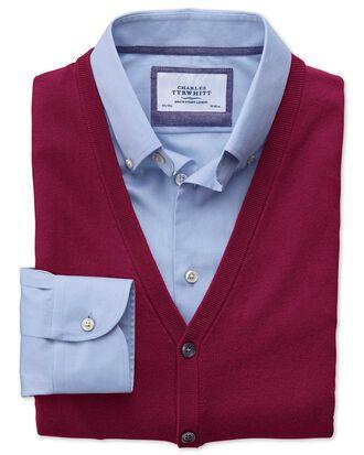 Dark red merino wool waistcoat