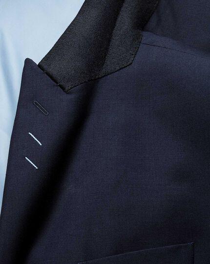 Classic Fit Business Anzug Sakko aus Twill mit Spitzrevers in Marineblau
