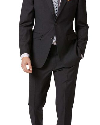 Costume business charcoal en twill slim fit