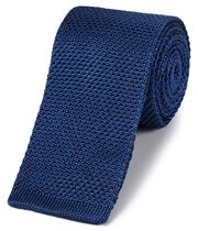 Royal silk slim knitted classic tie