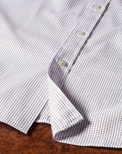 Extra slim fit Pima cotton double-faced brown shirt