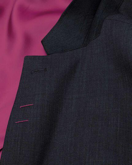 Navy slim fit end-on-end business suit jacket
