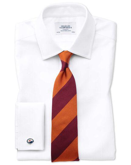 Extra slim fit Egyptian cotton royal Oxford white shirt