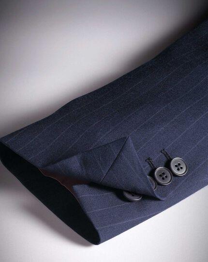Veste de costume business bleu marine en Panama slim fit à rayures