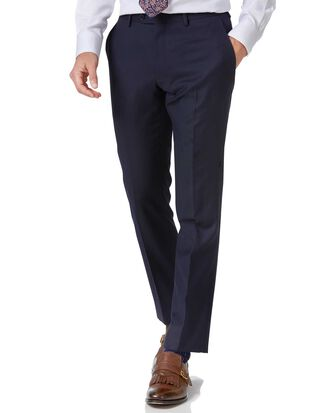 Pantalon de costume business bleu marine en twill slim fit