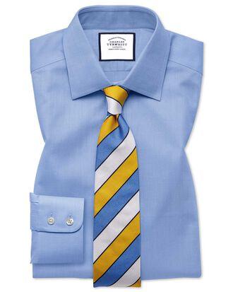 Chemise bleu ciel slim fit à chevrons fins