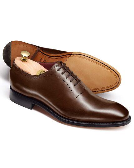 Richmond Wholecut-Schuh aus Kalbsleder in Braun