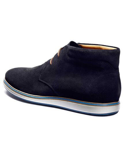 Navy Upton suede trainers