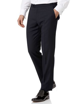 Navy slim fit tuxedo pants