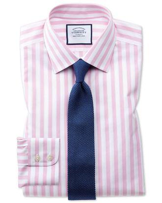 Classic fit non-iron Jermyn street stripes pink shirt