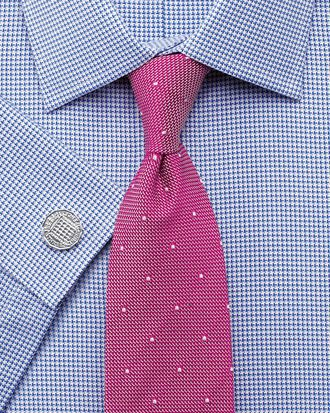 Classic fit Egyptian cotton puppytooth blue shirt