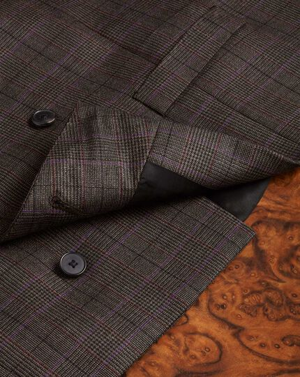 Brown check British Panama luxury suit vest