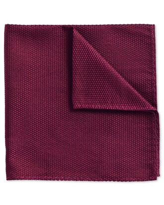 Berry classic plain pocket square