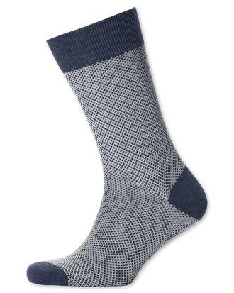 Chaussettes bleu marine gaufrées