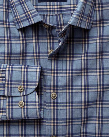 Chemise bruyère bleue et bleu marine extra slim fit à carreaux