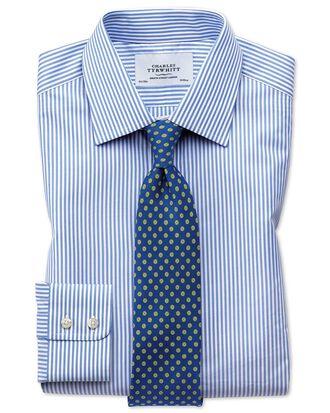 Extra slim fit Bengal stripe sky blue shirt