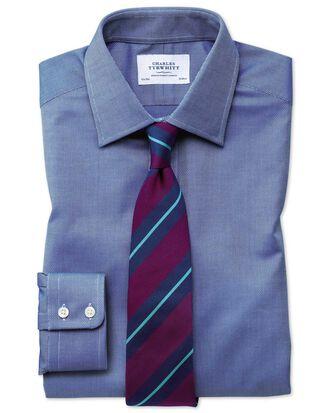 Slim fit Egyptian cotton royal Oxford royal blue shirt