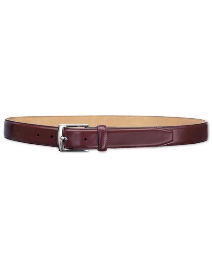 Oxblood leather formal belt