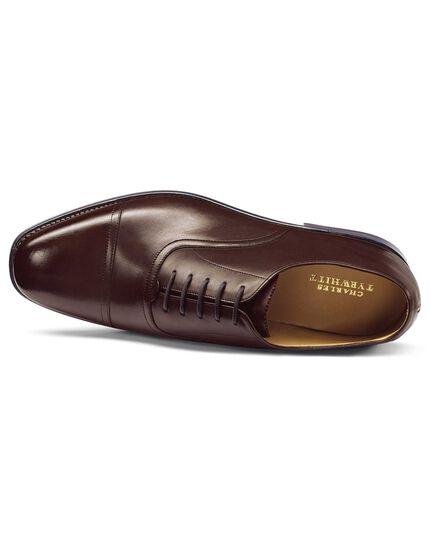 Oxford-Schuhe mit Goodyear-Rahmennaht in Schokoladenbraun