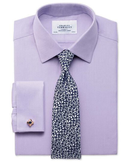 Navy silk classic abstract texture tie