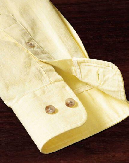 Slim fit yellow shirt