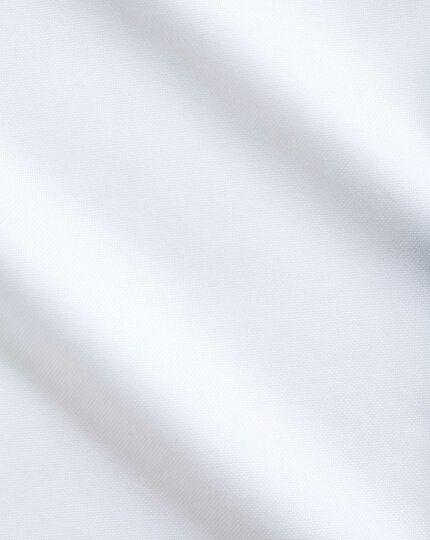 Chemise blanche en royal panama extra slim fit sans repassage