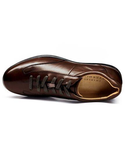 Brown work sneakers