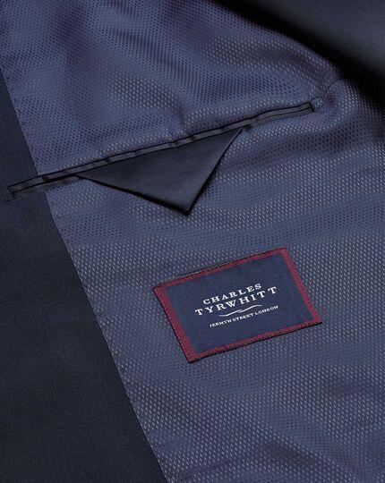 Navy blue slim fit performance suit jacket