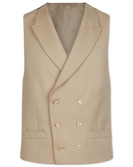 Natural adjustable fit morning suit vest