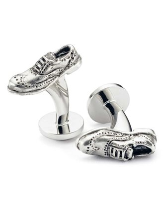 Brogue cuff links