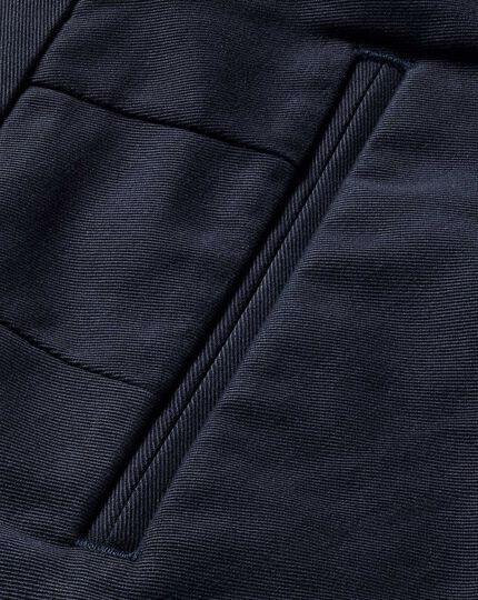 Navy classic fit flat front non-iron chinos