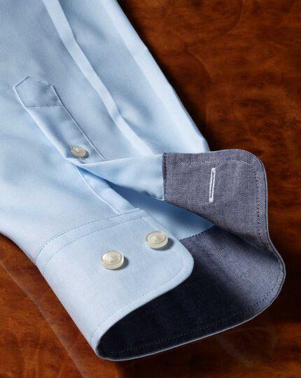 Classic fit non-iron Oxford light blue plain shirt
