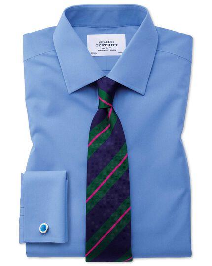 Bright blue enamel starburst cuff links