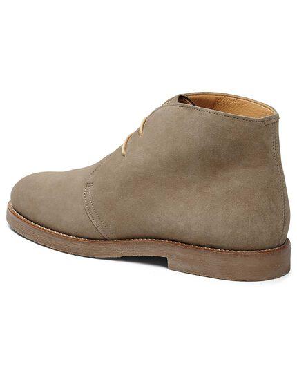 Desert boots gris clair en daim